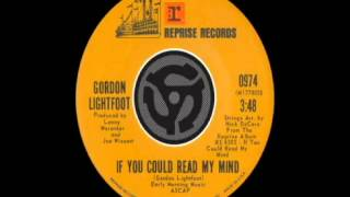 Gordon Lightfoot - If You Could Read My Mind (1971)