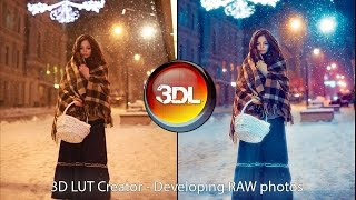 New way of Raw photo developing with 3D LUT Creator