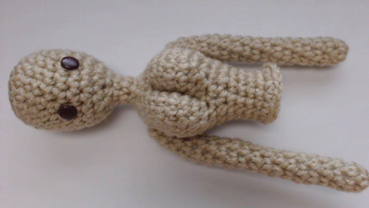 Free Crochet Patterns Baby Doll Clothes : Doll Upper Body Crochet Tutorial - YouTube