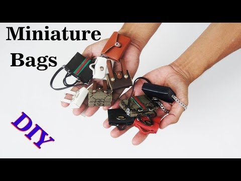 Doll bag | 4 Amazing DIY Miniature to do at home compilation crafts ideas