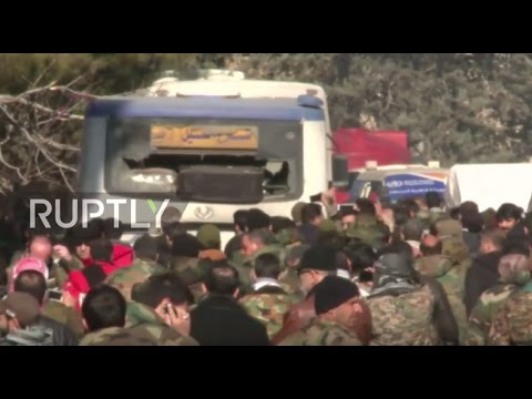 Syria: Civilians evacuated from besieged Fua and Kefraya arrive to Aleppo