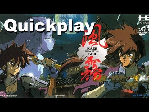 Quickplay - Kaze Kiri: Ninja Action (PC Engine Super CD) w/ Commentary