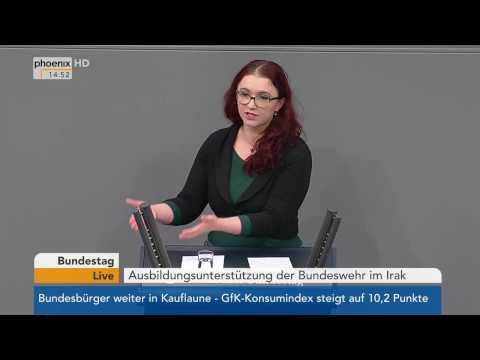 Bundestag: Debatte über Ausbildungsunterstützung der Bundeswehr im Irak am 26.01.2017