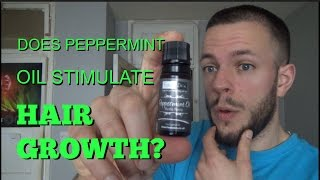 Does peppermint oil STIMULATE HAIR GROWTH? (Head and facial)