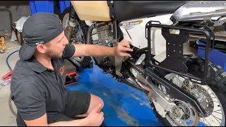 Suzuki DR 650 X-Frame pannier racks installation