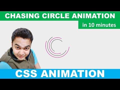 Chasing Circle Animation Using SVG   CSS Loader Animation   HTML & CSS   No JavaScript