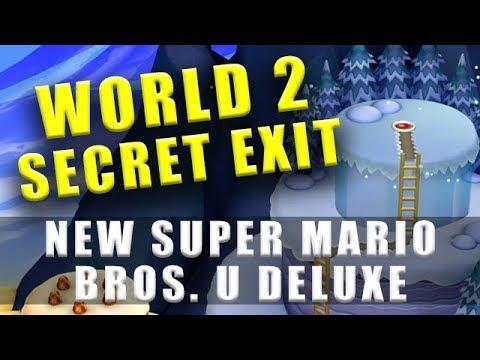 World 2 Secret Exit New Super Mario Bros U Deluxe Youtube
