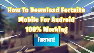 How To Download Fortnite On Android From Epic Games (Link In Description)