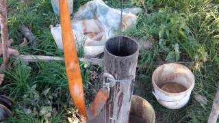 видео Буровой снаряд Шитца (Ударно-канатное бурение)
