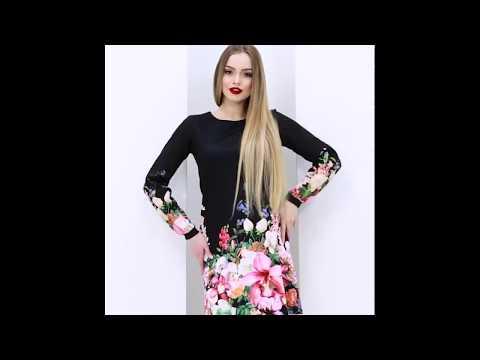 Черное платье-трапеция с цветочным принтомиз YouTube · Длительность: 22 с