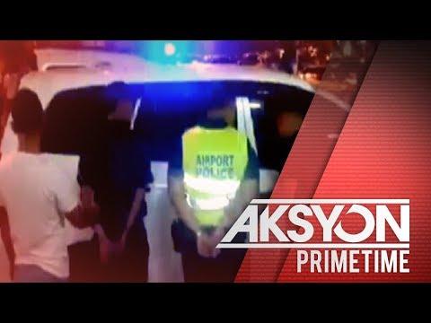 2 airport police, inaresto