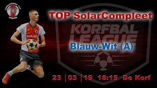 TOP/SolarCompleet 2 tegen Blauw-Wit (A) 2, zaterdag 23 maart 2019
