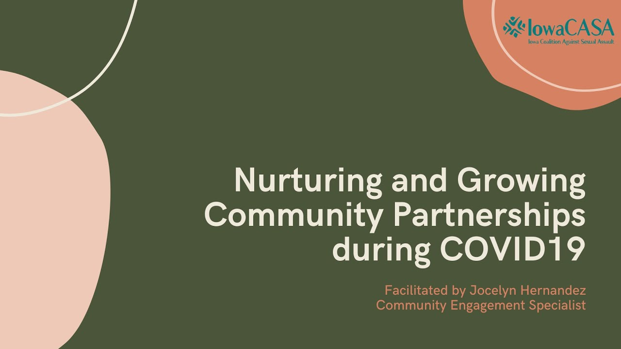 WEBINAR: Nurturing and Growing Community Partnerships during COVID-19