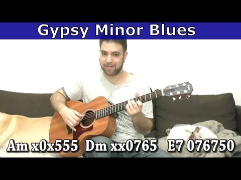 Lesson: Gypsy Style Minor Blues in Fingerstyle (AWESOME!) - Guitar Tutorial w/ TAB