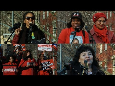 A Day Without a Woman: Voices of Resistance from New York City's Women's Strike Rally