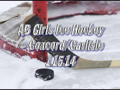 Acton Boxborough Varsity Girls Hockey Concord 1/15/14