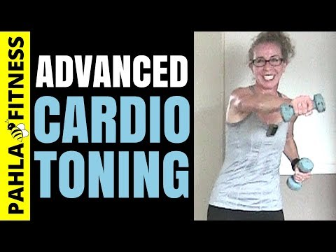 DUMBBELL TABATA | 30 Minute Advanced CARDIO TONING Workout for Fast Weight Loss + Full Body Shaping