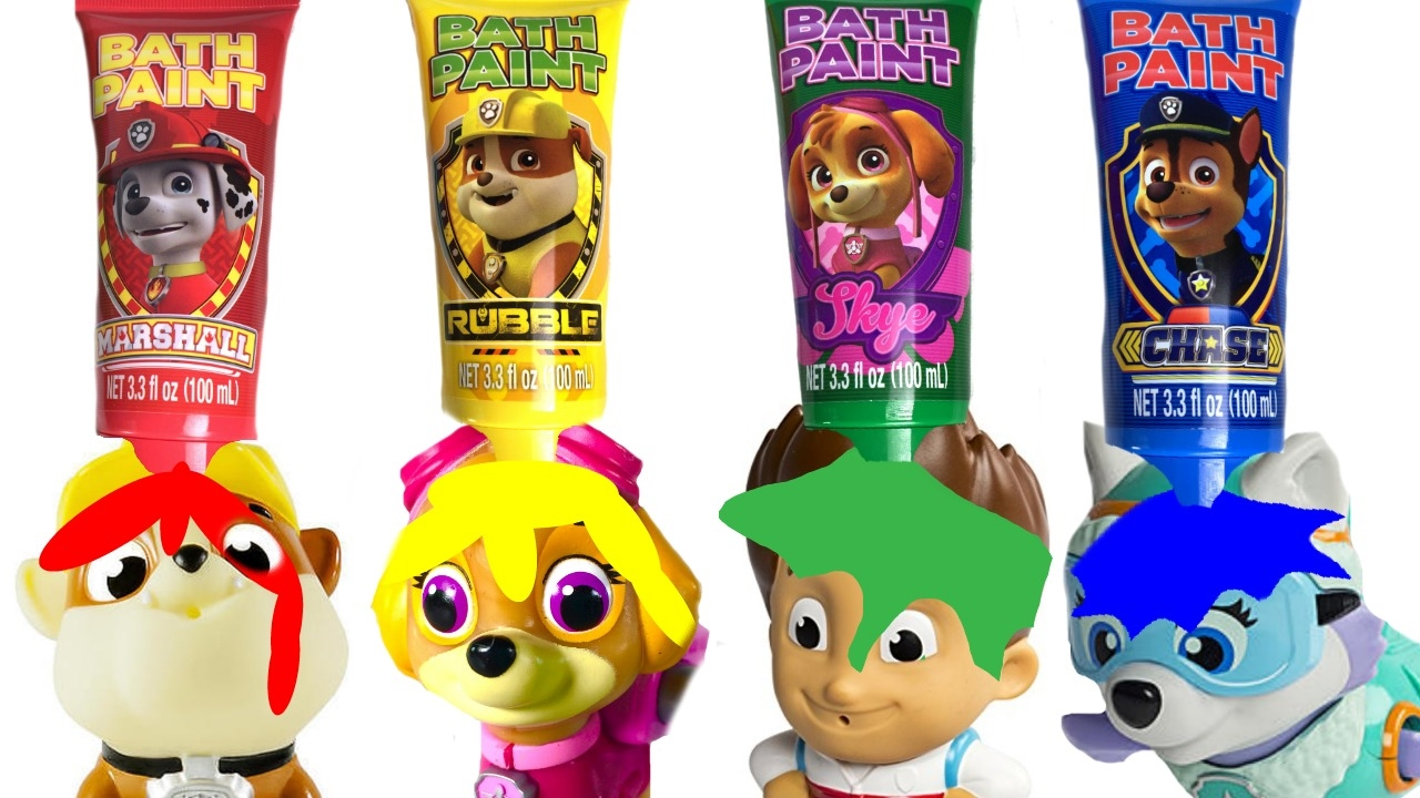 Fizzy Fun Toys: - Paw Patrol Bath Paint And Toys