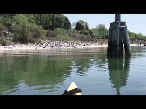 Fly Fishing For Striped Bass On Kayak. Long Island, New York