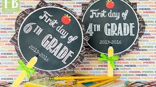 First Day of School Signs/Props for Back to School Pictures