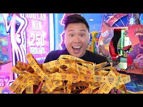 WON THE BIGGEST ARCADE JACKPOT!!!! (CRAZY MEGA WINS)