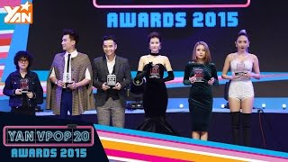 yan vpop 20 awards 2015 i top 20 ca si xuat sac nhat