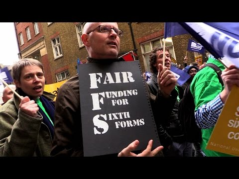 Sixth Form funding: Teachers strike over government lies