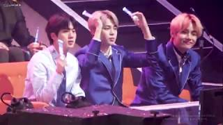 [4k]181230 MBC- BTS JIN REACTION TO WANNAONE LIGHT & ENERGETIC
