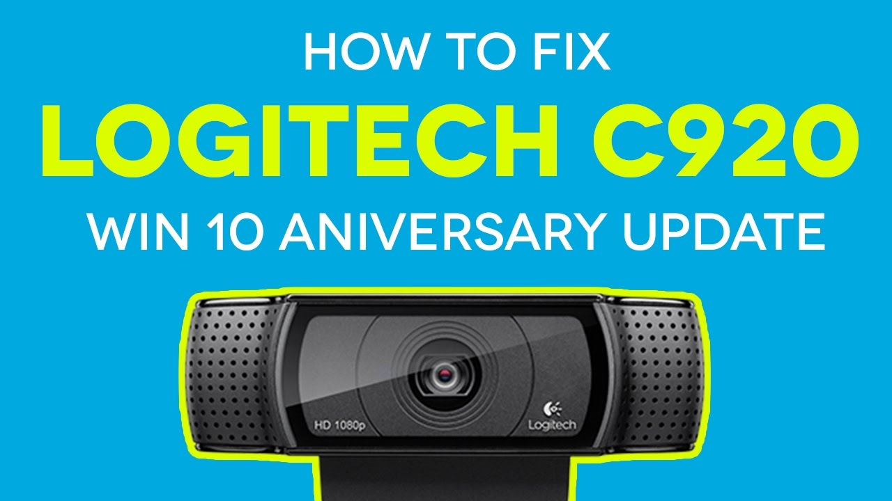 logitech c920 drivers win 10