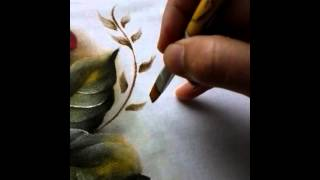 Dicas de como pintar folhas secas e ramos