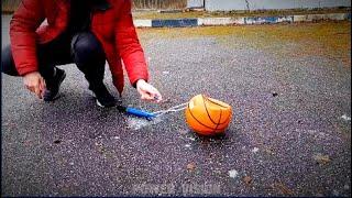 Experimento genial con bola de baloncesto #shorts