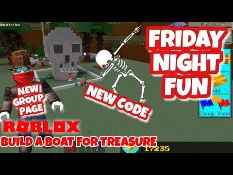 Friday Fun New Code In Description Roblox Build A Boat For