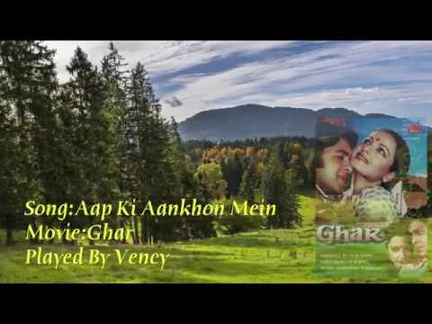 Aap Ki Aankhon Mein Kuch Instrumental With Lyrics