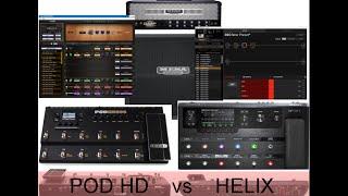Line 6 POD HD vs HELIX (Mesa Rectifier - Stock Cab vs IR)