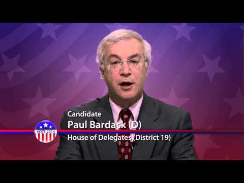 Paul Bardack (D), Candidate for Maryland House of Delegates  District 19