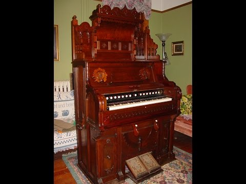 1887 B. Shoninger Reed Organ (with bells) Demo