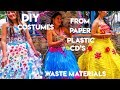DIY Costumes (Recycled and Reused) made of PAPER, PLASTIC, CD's, and other Waste Materials
