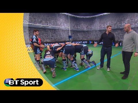 Pitch Demo: Ben Morgan & Lawrence Dallaglio No.8 Scrum masterclass | Sunday Rugby