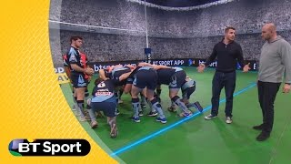 Pitch Demo: Ben Morgan & Lawrence Dallaglio No.8 Scrum masterclass | Sunday Rugby