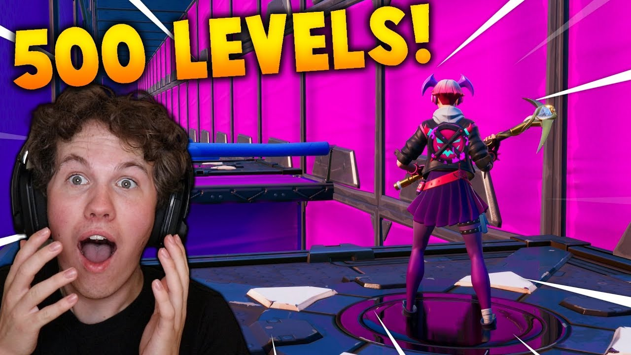 500 LEVEL DEATHRUN!! - Dansk Fortnite