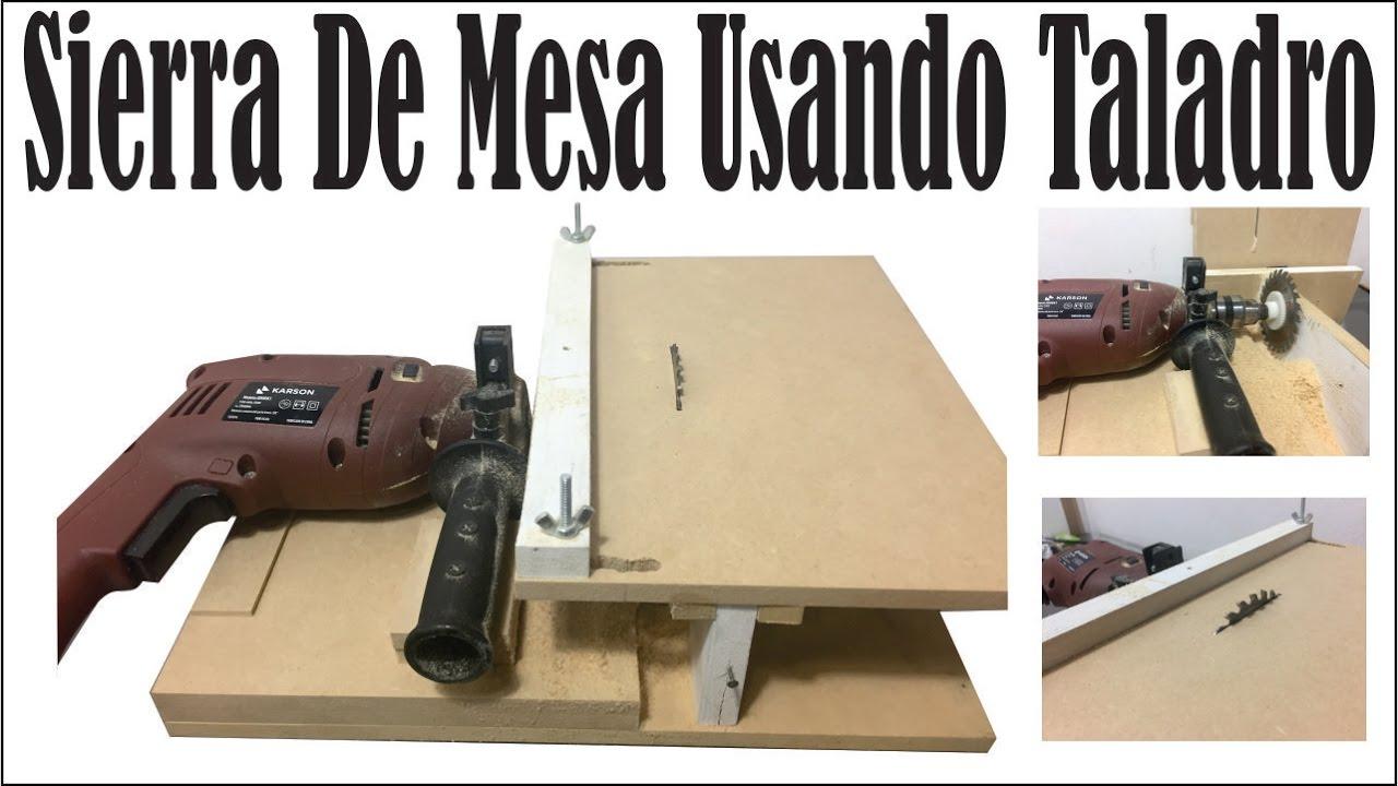 Hacer sierra de banco de mesa con un taladro tutorial - Sierra de banco ...