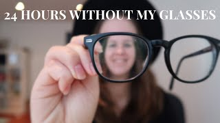 24 hours without my glasses| a day in my life at uni #vlog