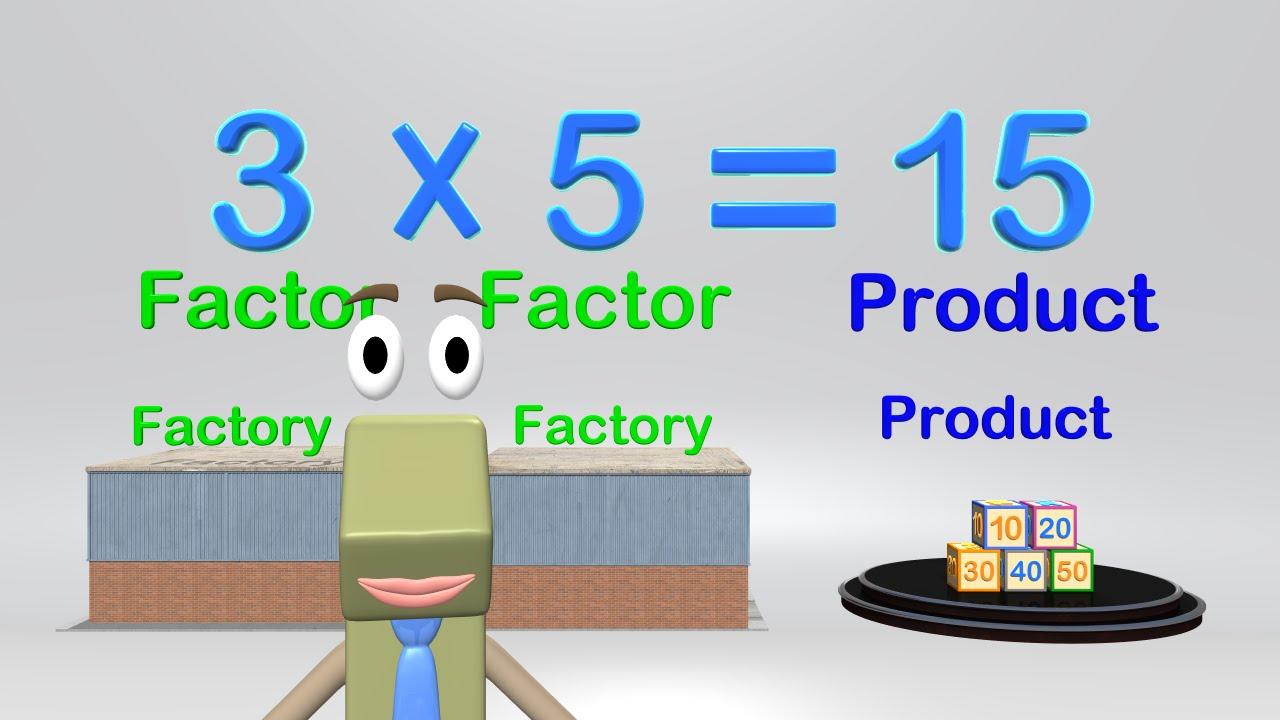 Multiplication Vocabulary - Math Video Elementary Kids - YouTube [ 720 x 1280 Pixel ]