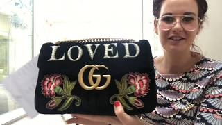 11355f52feec Unboxing   reveal of special edition Gucci marmont medium handbag loved  velvet edition wow