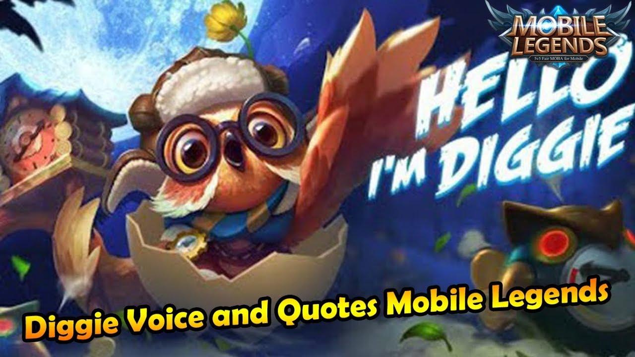 Inilah arti dari kata kata Diggie di Mobile Legends   YouTube