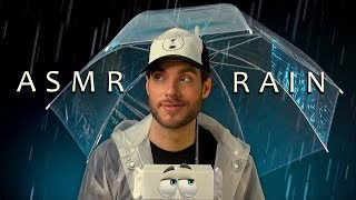 ASMR TINGLE RAIN – Umbrella Over the Mic. Spray Sounds. Tapping. Crinkles.