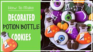 How To Make Decorated Potion Bottle Cookies