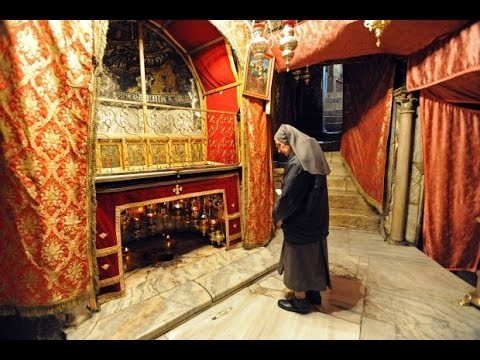 The exact place where Jesus was born. the Church of the Nativity in Bethlehem.