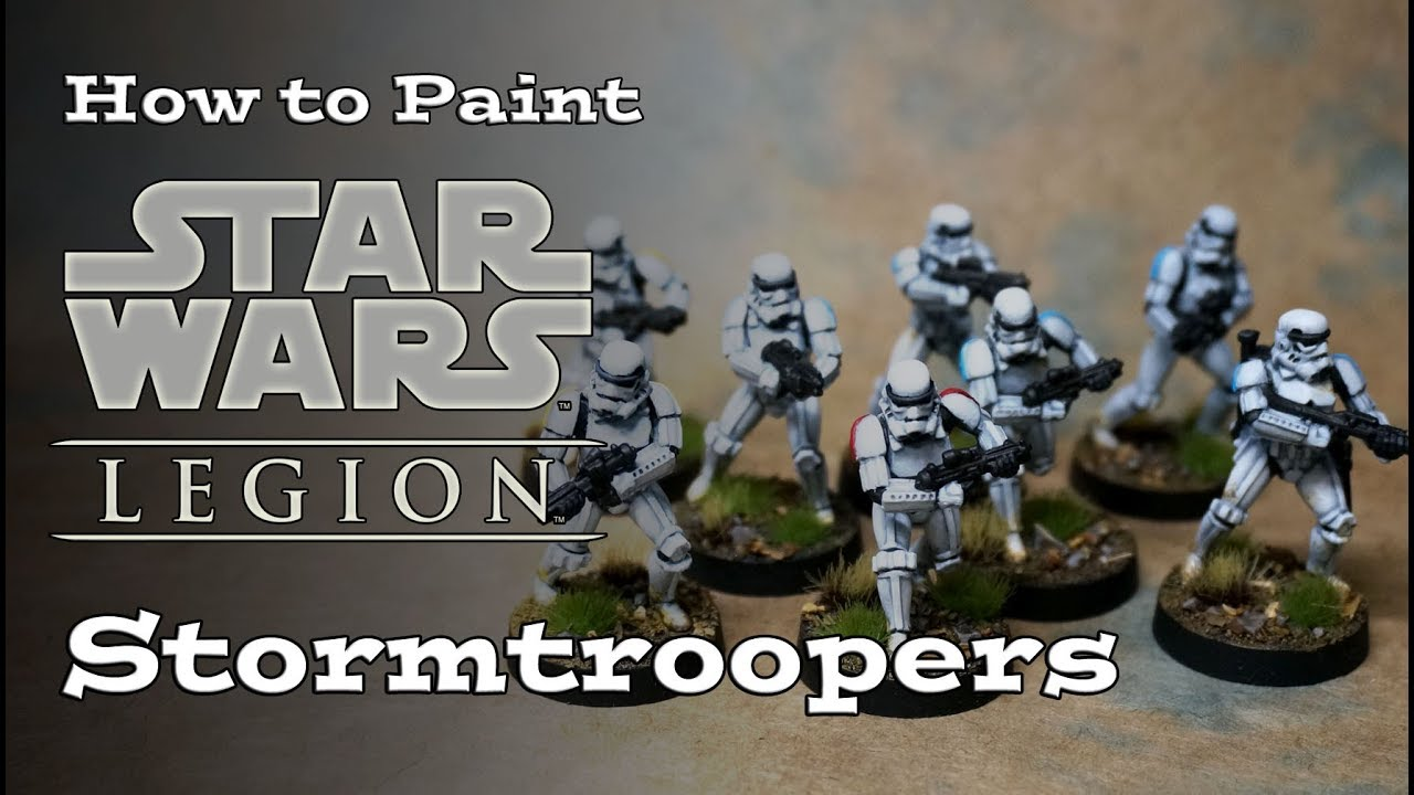 How To Paint Star Wars Legion Stormtroopers Youtube