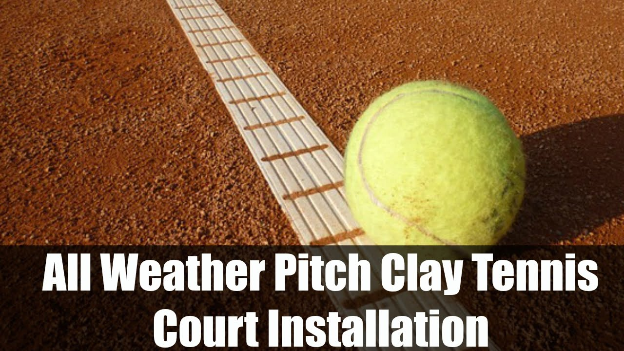 all weather pitch clay tennis court installation youtube